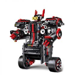 MOULDKING 13028 Xếp hình kiểu Lego TECHNIC Counter Balance Poise Intelligent Balance Education Programming 13028 Người Máy Chiến đấu 806 khối điều khiển từ xa