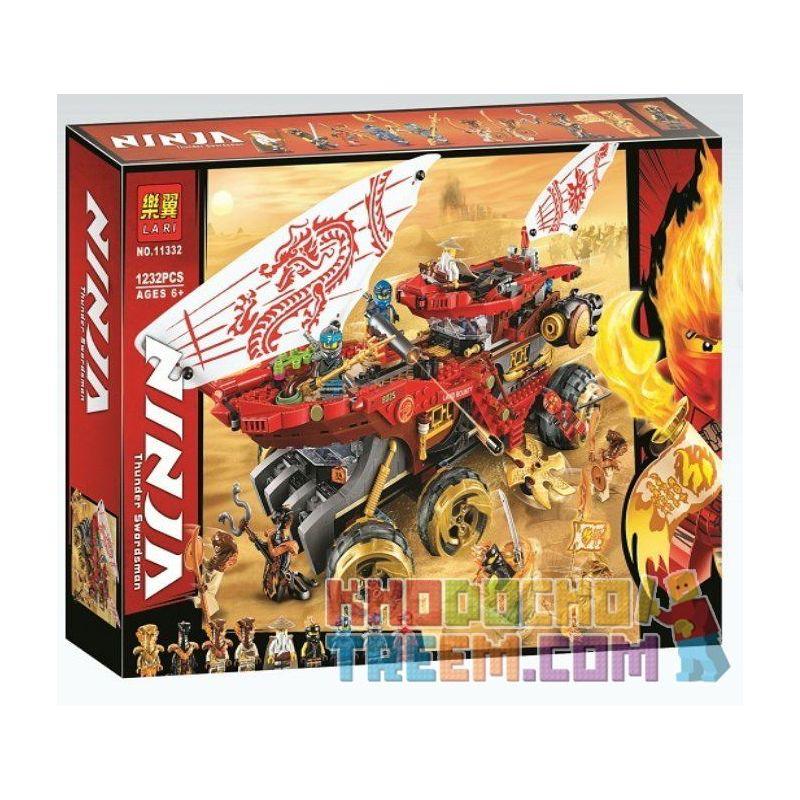 NOT Lego THE LEGO NINJAGO MOVIE 70677 Land Bounty, Bela 11332 Lari 11332 PRCK 61029 WHITE BOX 4021 Xếp hình Cuộc chiến trên sa mạc 1178 khối