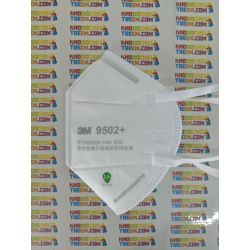 Khẩu trang 3M 9502+ KN95 lọc hơn 95% bụi siêu mịn PM2.5 và độc với màng than hoạt tính chun vải mềm đeo đầu chính hãng tốt nhất 3M