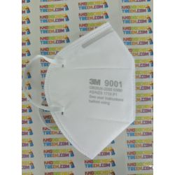 Một cái khẩu trang 3M 9001 KN90 lọc hơn 90% bụi siêu mịn PM2.5 , đeo tai, chun tổng hợp, chính hãng
