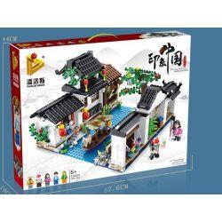 PanlosBrick 610004 Panlos Brick 610004 Xếp hình kiểu Lego CHINATOWN Làng nước Giang Nam 1801 khối