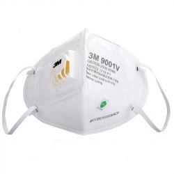 Một cái khẩu trang 3M 9001V KN90 lọc hơn 90% bụi siêu mịn PM2.5 , đeo tai, chun tổng hợp, chính hãng