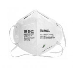 Một cái khẩu trang 3M 9002 KN90 lọc hơn 90% bụi siêu mịn PM2.5 , đeo đầu, chun tổng hợp, chính hãng