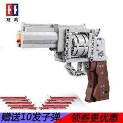 DOUBLEE CADA C81011 81011 Xếp hình kiểu Lego BLOCK GUN Block Gun Súng lục ổ quay 475 khối
