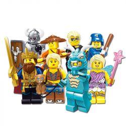 Enlighten 1503A 1503B Qman 1503A 1503B Xếp hình kiểu Lego COLLECTABLE MINIFIGURES Set Fun 16 People In The Third Quarter 16 Nhân Vật Nhỏ Trong Mùa Thứ Ba gồm 2 hộp nhỏ