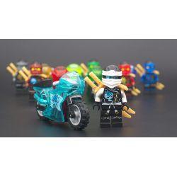 Decool 10029 10030 10031 10032 10033 10034 Jisi 10029 10030 10031 10032 10033 10034 Xếp hình kiểu Lego THE LEGO NINJAGO MOVIE Xe máy trong suốt Xe máy trong suốt minifigure 6 gồm 6 hộp nhỏ