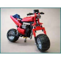 Decool 3352 Jisi 3352 REBRICKABLE MOC-0079 0079 MOC0079 Xếp hình kiểu Lego TECHNIC 8048: Motorbike Mô tô bánh rộng 224 khối