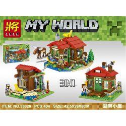 LELE 33020 LEPIN 18015 Xếp hình kiểu Lego MINECRAFT My World Lake Shigeri Sanjoichi Túp Lều Bên Hồ Sangoichi