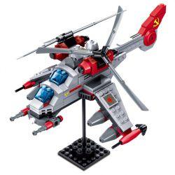 Kazi KY81015 81015 Xếp hình kiểu Lego RED ALERT 3 Red Warning Double-blade Helicopter Máy Bay Trực Thăng Hai Lưỡi 277 khối