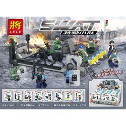 LELE 36001 Xếp hình kiểu Lego SWAT SPECIAL FORCE Swat Special Squad People Small Scene 12 SWAT đội đặc Biệt 12 Cảnh Mini