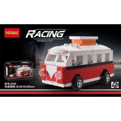 Decool 22015 2220 Jisi 22015 2220 Xếp hình kiểu Lego MINI RACING PACEMAKER Back Car Volkswagen T1 Volkswagen T1. gồm 2 hộp nhỏ 73 khối