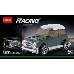 Decool 22017 2222 Jisi 22017 2222 SEMBO 607202A Xếp hình kiểu Lego MINI RACING PACEMAKER Back Car BMW Mini Bmw Mini. 62 khối