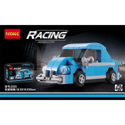 Decool 22018 2223 Jisi 22018 2223 Xếp hình kiểu Lego MINI RACING PACEMAKER Back Car Volkswagen Beetle Bọ Cánh Cứng Của Volkswagen. 74 khối