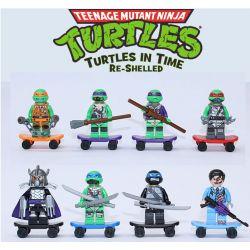 Decool 501 502 503 504 505 506 507 508 Jisi 501 502 503 504 505 506 507 508 Xếp hình kiểu Lego TEENAGE MUTANT NINJA TURTLES Skateboard 8 Models 8 Nhân Vật Mini Ván Trượt