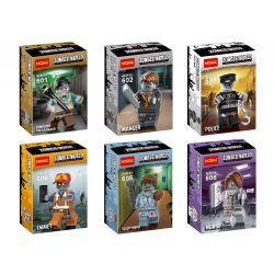 Decool 601 602 603 604 605 606 Jisi 601 602 603 604 605 606 Xếp hình kiểu Lego Zombie World House 6 6 Nhân Vật Nhỏ