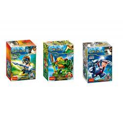 Decool 5001 5002 5003 Jisi 5001 5002 5003 Xếp hình kiểu Lego LEGENDS OF CHIMA Chima 赤马 Qigong Legend House 3 Truyền Thuyết Khí Công 3 Minifigures gồm 2 hộp nhỏ