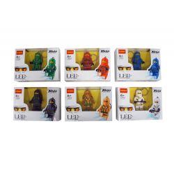 Decool 1301 1302 1303 1304 1305 1306 Jisi 1301 1302 1303 1304 1305 1306 Xếp hình kiểu THE LEGO NINJAGO MOVIE Light Key Chain Glowing House Keychain 6 Móc Khóa Minifigure Phát Sáng 6 Kiểu gồm 6 hộp nhỏ