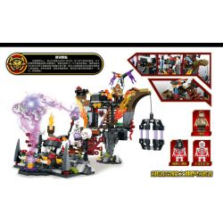 SHENG YUAN SY SD3351 3351 Xếp hình kiểu Lego CHRONICLES OF THE GHOSTLY TRIBE Ghost Tribes Tribal Glory, Nether Altar, Annihilation The Nether Altar Of Horde Glory Annihilation đến 349 khối