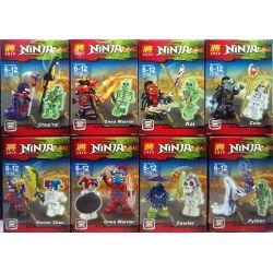 LELE 79156 Xếp hình kiểu Lego THE LEGO NINJAGO MOVIE Ninja Vs. Luminous Skeleton 8 Ninja vs. Luminous Skeleton 8