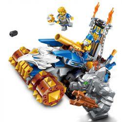 Enlighten 2307 Qman 2307 Xếp hình kiểu Lego NEXO KNIGHTS The War Of Glory Eagle Destroyer Glory Battle God Eagle Thần đại Bàng 261 khối