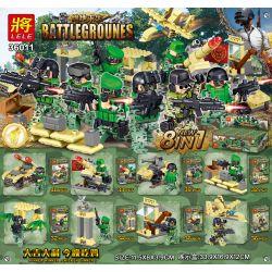 LELE 36011 36011-1 36011-2 36011-3 36011-4 36011-5 36011-6 36011-7 36011-8 Xếp hình kiểu Lego PUBG BATTLEGROUNDS Battlegrounes Jedi Survival House Small Scene 8 8 Cảnh Nhỏ Nhỏ gồm 8 hộp nhỏ 282 khối