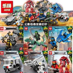 LEPIN 03054 03054A 03054B 03054C 03054D 03054E 03054F Xếp hình kiểu THE LEGO NINJAGO MOVIE The New Ninjasaga Blocks Phantom Ninja Grand Movie Full Set Of Roles Exclusive Mounts 6 Phim Ninjago Trọn Bộ
