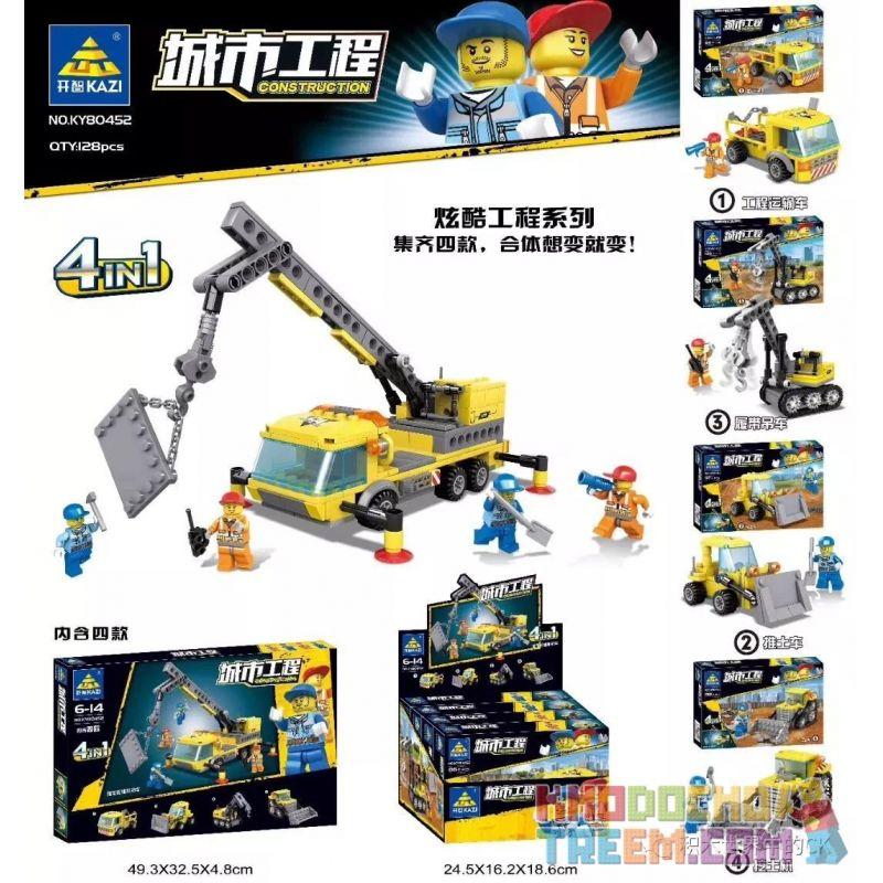 Kazi KY80452 80452 KY80452-1 80452-1 KY80452-2 80452-2 KY80452-3 80452-3 KY80452-4 80452-4 Xếp hình kiểu Lego CITY Construction City Engineering Can Fit 4 4 Loại Kỹ Thuật đô Thị Có Thể được Kết Hợp gồ