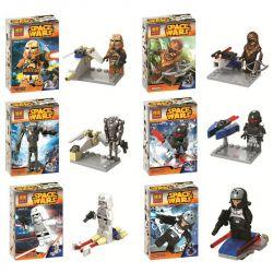 Bela 10384 10385 10386 10387 10388 10389 Lari 10384 10385 10386 10387 10388 10389 Xếp hình kiểu Lego STAR WARS Star Wars Eighteas Awakens 6 Star Wars Force Awakens 6 Nhân Vật Nhỏ gồm 6 hộp nhỏ
