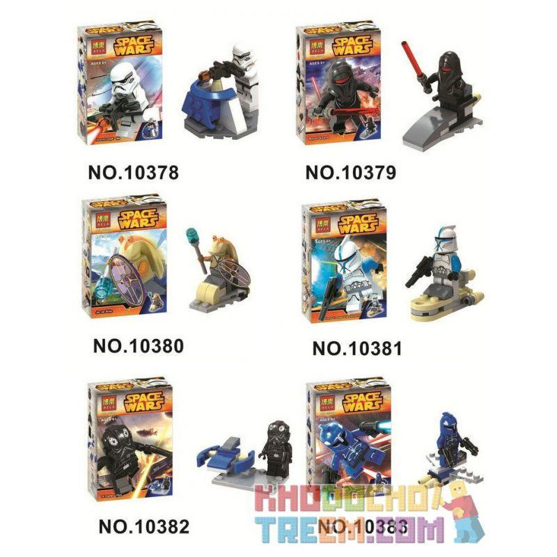 Bela 10378 10379 10380 10381 10382 10383 Lari 10378 10379 10380 10381 10382 10383 Xếp hình kiểu Lego STAR WARS Star Wars Eighteas Awakens 6 Star Wars Force Awakens 6 Nhân Vật Nhỏ gồm 6 hộp nhỏ