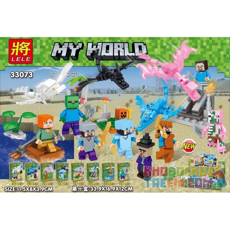 LELE 33073 Xếp hình kiểu Lego MINECRAFT MY WORLD House Small Scene 8 8 Cảnh Nhỏ Nhỏ 232 khối