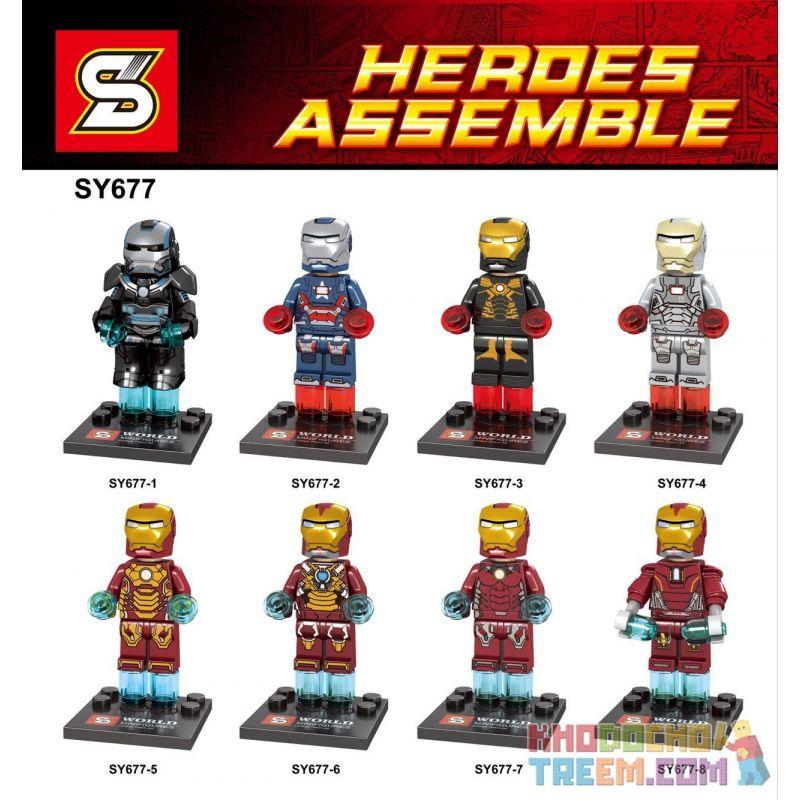 SHENG YUAN SY 677 SY677 SY677-1 677-1 SY677-2 677-2 SY677-3 677-3 SY677-4 677-4 SY677-5 677-5 SY677-6 677-6 SY677-7 677-7 SY677-8 677-8 Xếp hình kiểu Lego SUPER HEROES Heroes Assemble Iron Man Talk Pa