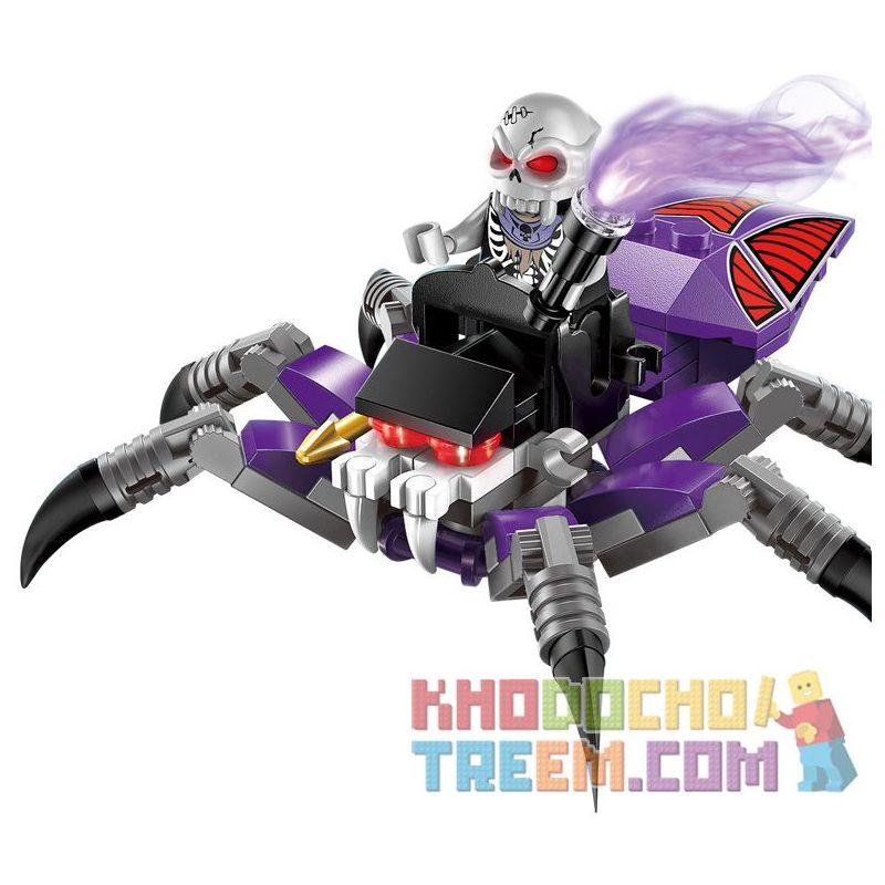 Enlighten 1301 Qman 1301 KEEPPLEY 1301 Xếp hình kiểu Lego PIRATES OF THE CARIBBEAN Legendary Pirates Legendary Pirate Venomous Spider Nhện độc 73 khối