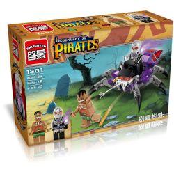 Enlighten 1301 Qman 1301 Xếp hình kiểu Lego PIRATES OF THE CARIBBEAN Legendary Pirates Legendary Pirate Vehicle Spider Nhện độc 73 khối