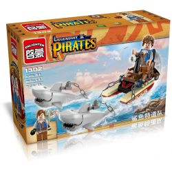 Enlighten 1302 Qman 1302 Xếp hình kiểu Lego PIRATES OF THE CARIBBEAN Legendary Pirates Legendary Pirate Shark Contingent Cá Mập đặc Nhiệm 45 khối