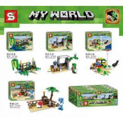 SHENG YUAN SY 786 SY786 SY786A 786A SY786B 786B SY786C 786C SY786D 786D Xếp hình kiểu Lego MINECRAFT MY WORLD Small Scene 4 4 Cảnh Nhỏ gồm 6 hộp nhỏ