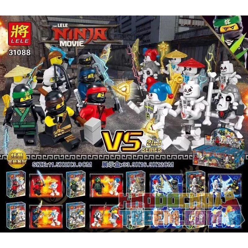 LELE 31088 Xếp hình kiểu THE LEGO NINJAGO MOVIE The LELE Ninja Movie Ninja Vs. Skeleton