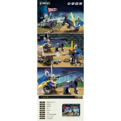 Enlighten 1012 Qman 1012 Xếp hình kiểu Lego Castle Knights Fighting Castle Compelling Tranh Giành Pháo 42 khối