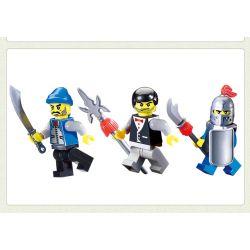 Enlighten 1013 Qman 1013 Xếp hình kiểu Lego Castle Knights Smithy Castle Blacksmith Shop Lò Rèn 81 khối