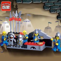 Enlighten 1014 Qman 1014 Xếp hình kiểu Lego Castle Knights Arena Castle Playwarm Lĩnh Vực Võ Thuật 88 khối