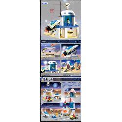 Enlighten 513 Qman 513 Xếp hình kiểu Lego TOWN Space Station Space Simulation Station Astronaut Test Base Trạm Mô Phỏng Vũ Trụ 245 khối