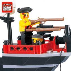 Enlighten 301 Qman 301 Xếp hình kiểu Lego PIRATES OF THE CARIBBEAN Corsair BARBARA Barbara Pirate Ship Tàu Cướp Biển Barbara 211 khối