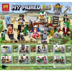 LELE 33089 Xếp hình kiểu Lego MINECRAFT MY WORLD Fantasy Manor 8 Dream Manor 8 Mẫu