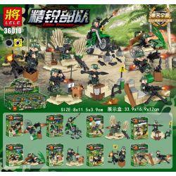 LELE 36010 Xếp hình kiểu Lego MILITARY ARMY Elite Troops Exquisite Troops People Small Scenes 8 Đội Quân Tinh Nhuệ 8 Cảnh Nhỏ Nhỏ