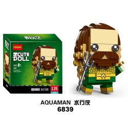 NOT Lego BRICKHEADZ 41600 Square Head Boy Aquaman , Decool 6839 Jisi 6839 LEPIN 43029 Xếp hình Aquaman 135 khối