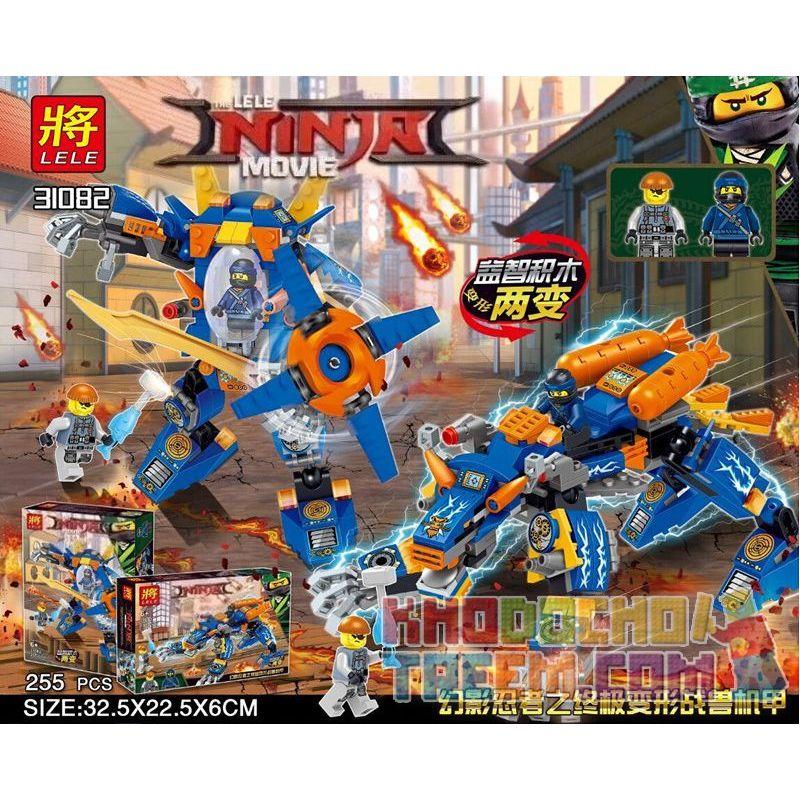 LELE 31082 Xếp hình kiểu THE LEGO NINJAGO MOVIE The LELE NINJA Movie Phantom Ninja Ultimate Transformers Phantom Ninja Transformers Ultimate 255 khối