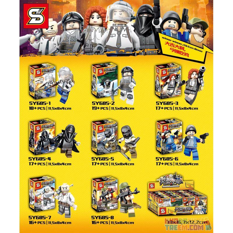 SHENG YUAN SY 685 SY685 SY685-1 685-1 SY685-2 685-2 SY685-3 685-3 SY685-4 685-4 SY685-5 685-5 SY685-6 685-6 SY685-7 685-7 SY685-8 685-8 Xếp hình kiểu Lego BATTLE ROYALE Glorious Mission, 8 Nhiệm Vụ Vi