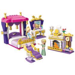 Enlighten 2601 Qman 2601 Xếp hình kiểu Lego PRINECESS LEAH Prinecess Leah Leah's Bedchamber Princess Lay Le Ya's Sleep Câu Chuyện Trước Khi đi Ngủ Của Leah 269 khối