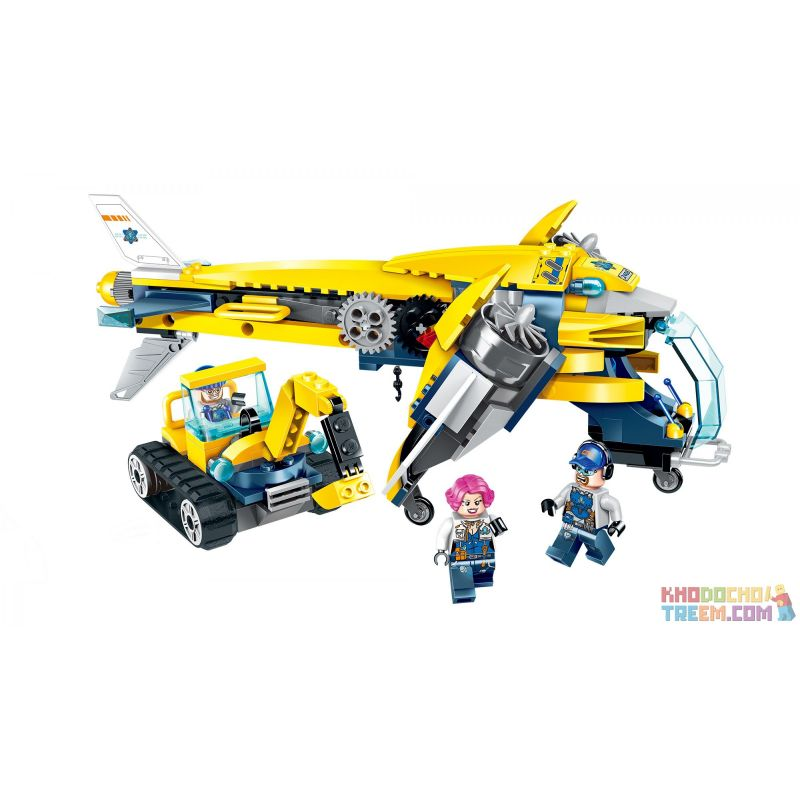 Enlighten 2408 Qman 2408 KEEPPLEY 2408 Xếp hình kiểu Lego KYANITE SQUAD Kyanite Squad Heavy-lift Aircraft Spar Team Thunderbird Transport Aircraft Máy Bay Vận Tải Thunderbird 283 khối