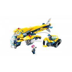 Enlighten 2408 Qman 2408 Xếp hình kiểu Lego KYANITE SQUAD Kyanite Squad Heavy-lift Aircraft Slim Squad Thunderbird Transporter Máy Bay Vận Tải Thunderbird 283 khối