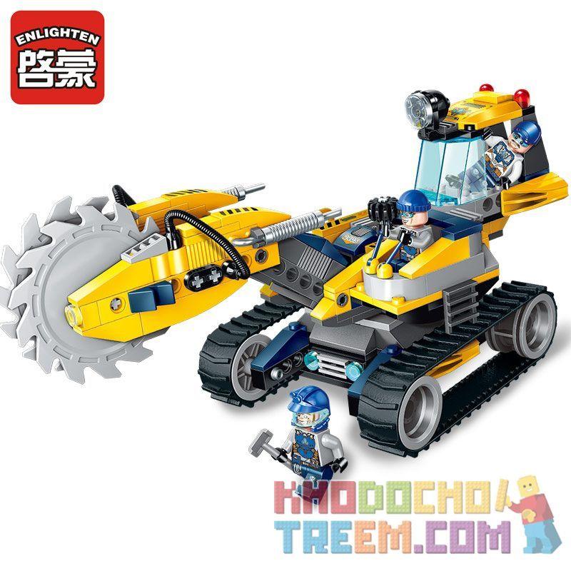 Enlighten 2405 Qman 2405 KEEPPLEY 2405 Xếp hình kiểu Lego KYANITE SQUAD Kyanite Squad Rock Grinder Spar Team Bursting Wheel Bánh Xe Nổ 279 khối